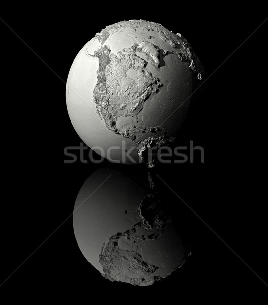 Biały świecie na północ Ameryki realistyczny model Zdjęcia stock © ThreeArt