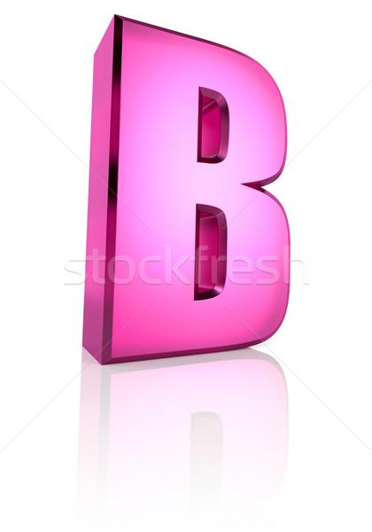 Pink Letter B Stock photo © ThreeArt