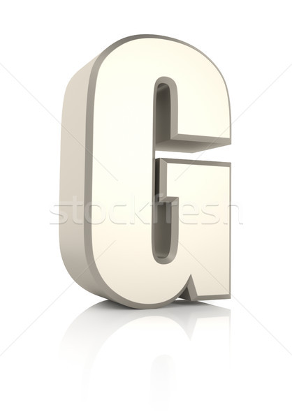 Mektup g yalıtılmış beyaz 3d render okul arka plan Stok fotoğraf © ThreeArt