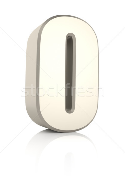Letter O Isolated on White Background Stock photo © ThreeArt