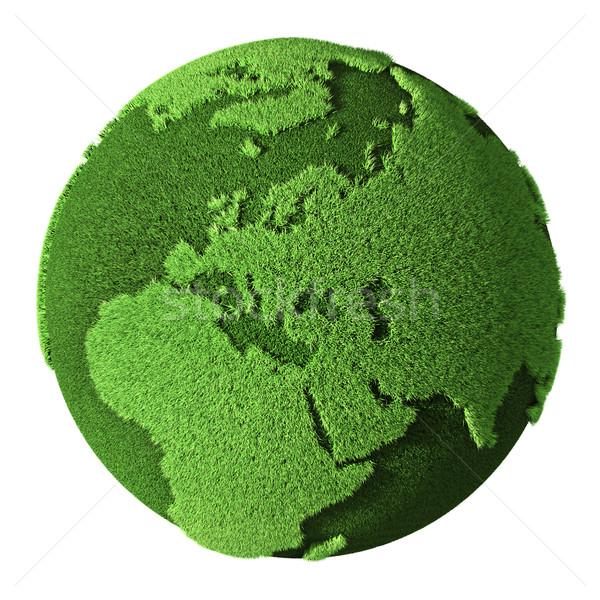 Grama globo europa isolado branco 3d render Foto stock © ThreeArt
