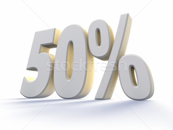 ötven százalék nagy fehér szám izolált Stock fotó © ThreeArt