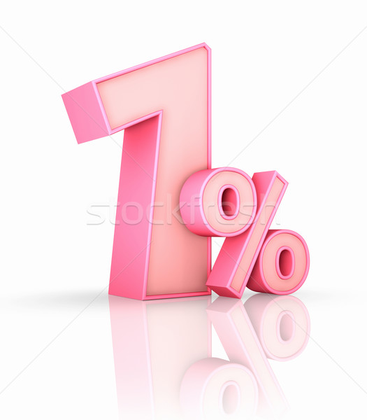 Pink One Percent Stock photo © ThreeArt
