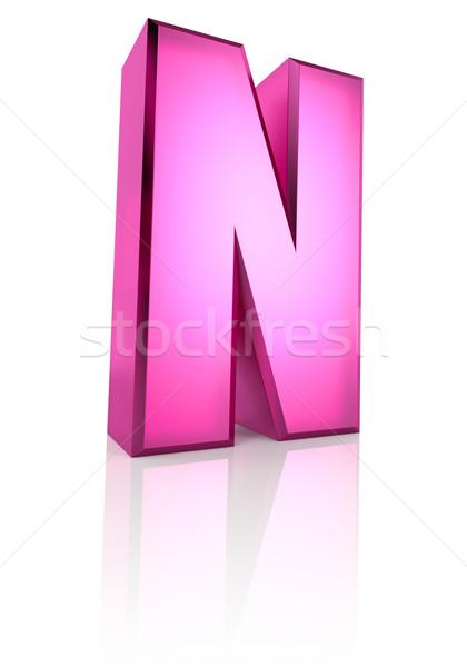 Roze geïsoleerd witte 3D Stockfoto © ThreeArt
