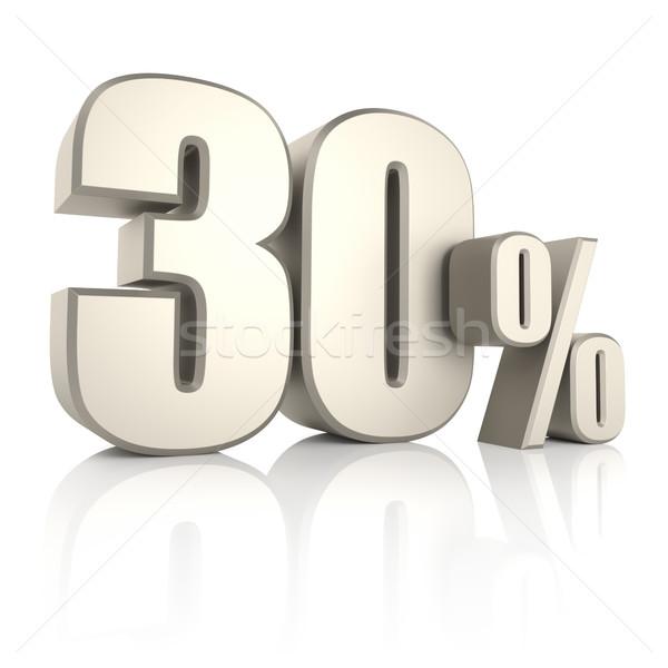 30 процент изолированный белый 3d визуализации знак Сток-фото © ThreeArt