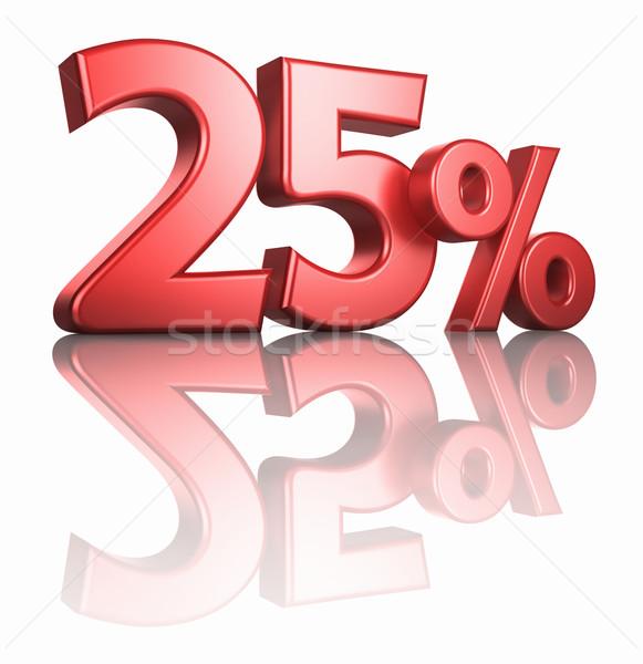 красный двадцать пять процент белый Сток-фото © ThreeArt
