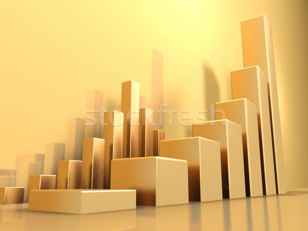 Ouro gráficos crescente reflexões sombras Foto stock © ThreeArt