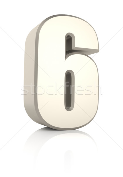 Aantal geïsoleerd witte 3d render business school Stockfoto © ThreeArt