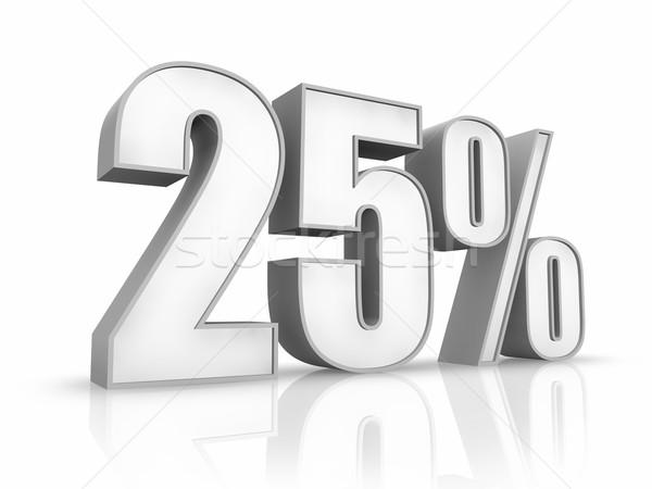 Branco vinte cinco por cento isolado 25 Foto stock © ThreeArt