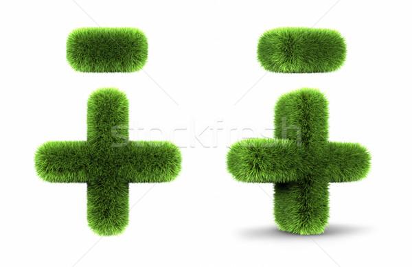 Grass Plus And Minus Stock photo © ThreeArt