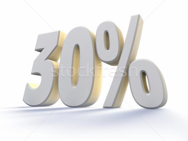Dertig procent groot witte aantal geïsoleerd Stockfoto © ThreeArt