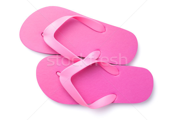 Summer Flip Flops Isolated on White Background Stock photo © ThreeArt