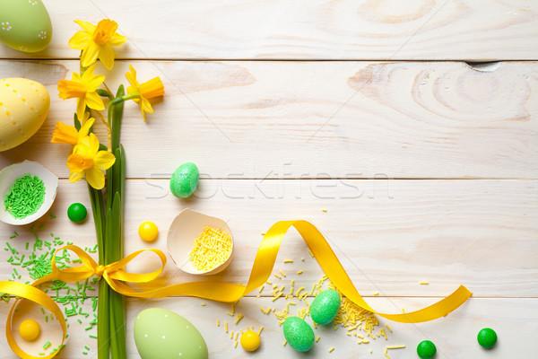 イースター イースターエッグ 春の花 先頭 表示 コピースペース ストックフォト © ThreeArt