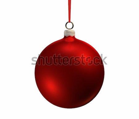 Сток-фото: красный · Рождества · лампа · белый · изолированный · 3d · визуализации