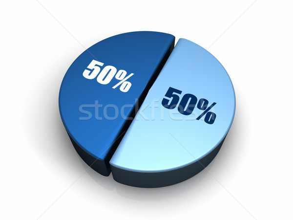 Blue Pie Chart 50 - 50 percent Stock photo © ThreeArt