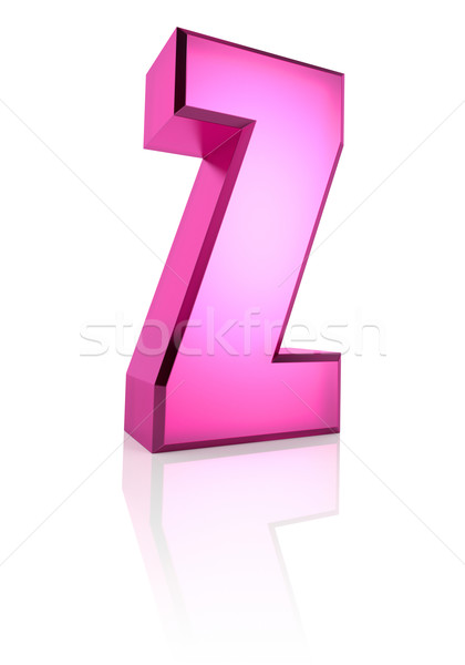 Pink Letter Z Stock photo © ThreeArt