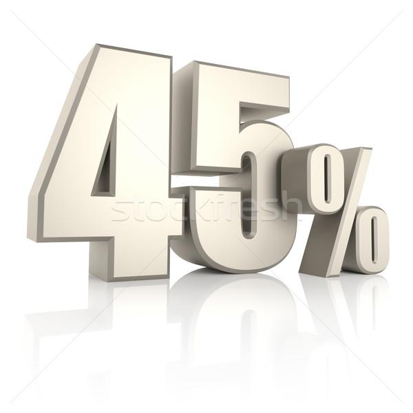 процент изолированный белый 3d визуализации фон продажи Сток-фото © ThreeArt