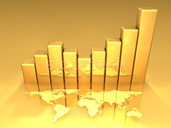 Stock photo: Gold Chart 3