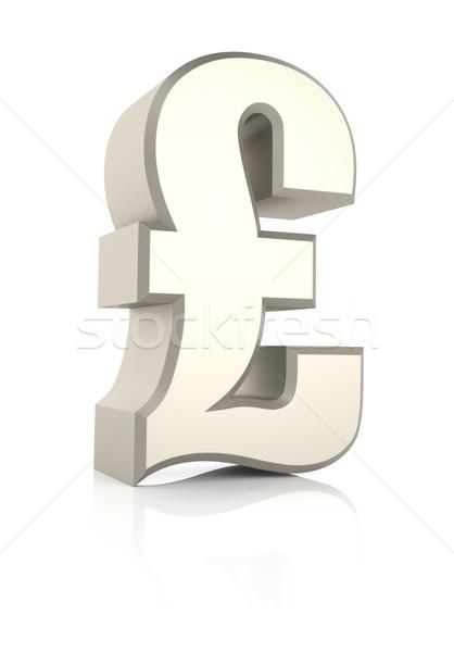 Pond teken witte geïsoleerd 3d render geld Stockfoto © ThreeArt