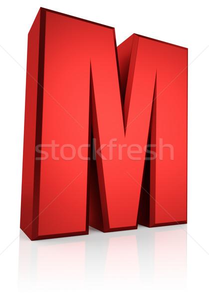 3d Letter M Stock photo © ThreeArt