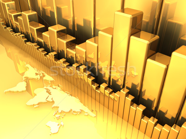 Gold Tabelle Erde Karte alle Business Stock foto © ThreeArt