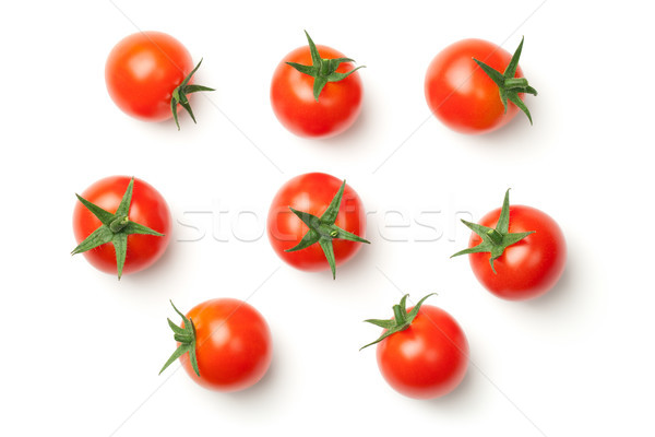 Tomates cereja isolado branco topo ver comida Foto stock © ThreeArt