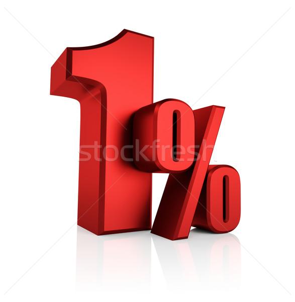 Red 1 Percent Stock photo © ThreeArt