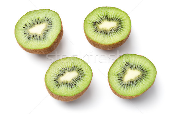 Kiwi fruto isolado branco topo ver Foto stock © ThreeArt