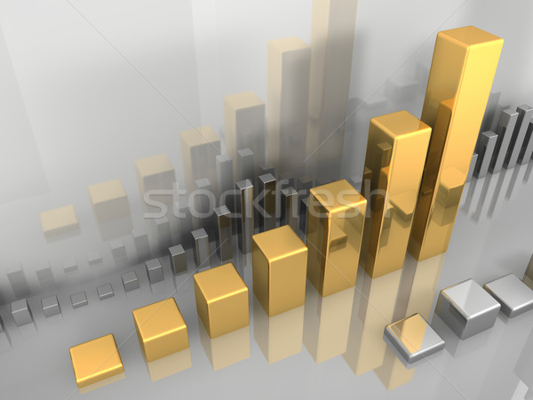 Oro tabla resumen bolsa plata 3d Foto stock © ThreeArt