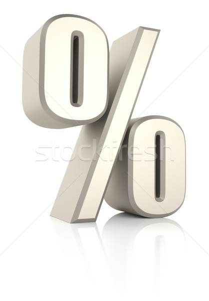 Percent Sign Ioslated on White Background Stock photo © ThreeArt