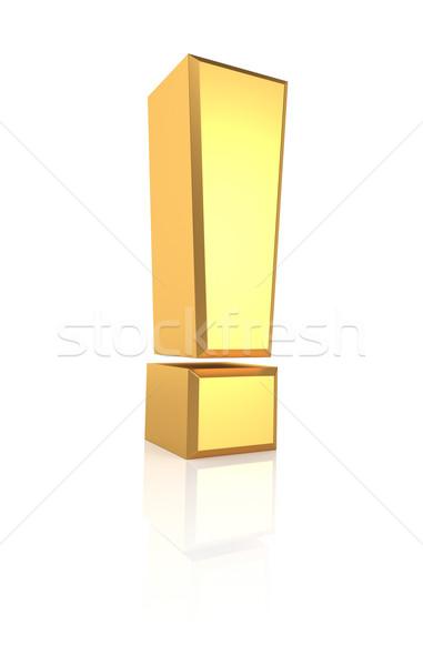 3D oro signo dorado símbolo aislado Foto stock © ThreeArt