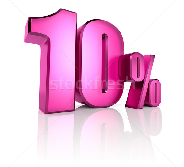 Ten Percent Sign Stock photo © ThreeArt