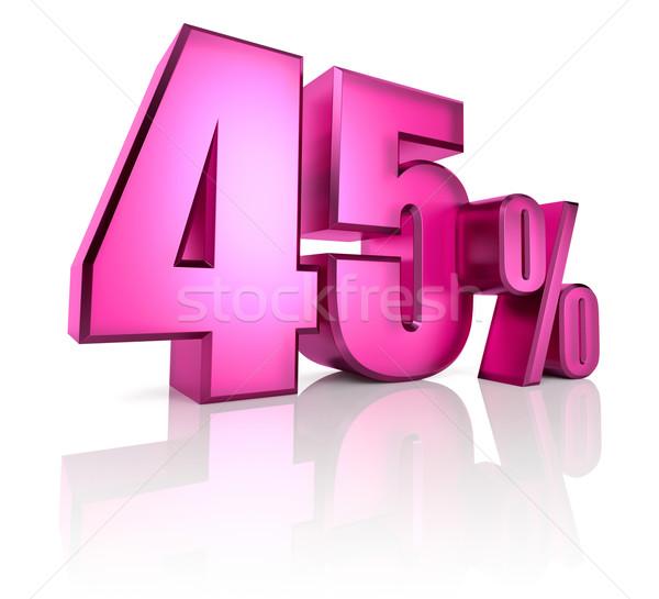 Quarante cinquième pour cent signe rose isolé Photo stock © ThreeArt