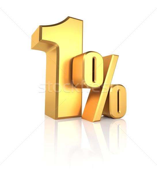 Gold 1 Percent Stock photo © ThreeArt