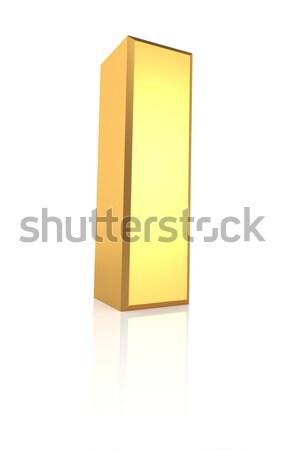 3D mektup i altın yalıtılmış beyaz Stok fotoğraf © ThreeArt