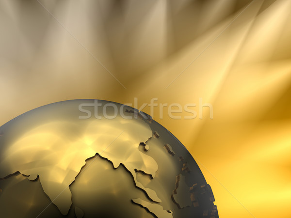 Ouro globo Ásia visível fundo Foto stock © ThreeArt