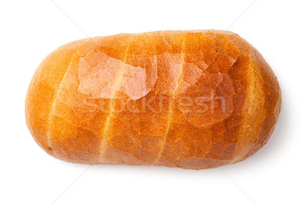 Ekmek yalıtılmış beyaz ekmek beyaz üst görmek Stok fotoğraf © ThreeArt
