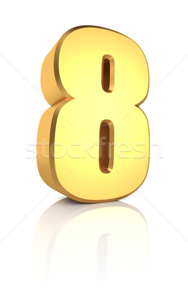 3d Number 8 Stock photo © ThreeArt