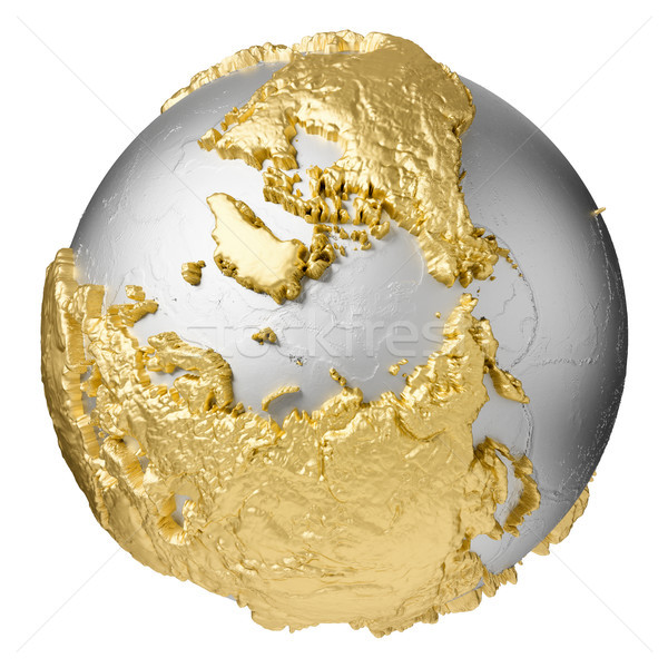Gold North Pole Stock photo © ThreeArt