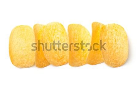 Batatas fritas isolado branco topo ver rápido Foto stock © ThreeArt