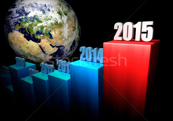 Business 2015 Europa Asia grafico globale Foto d'archivio © ThreeArt
