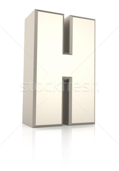 H betű izolált fehér 3d render iskola háttér Stock fotó © ThreeArt