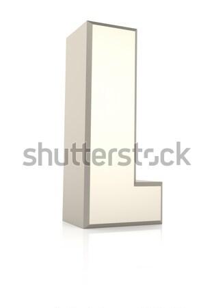 Letter l geïsoleerd witte 3d render school achtergrond Stockfoto © ThreeArt