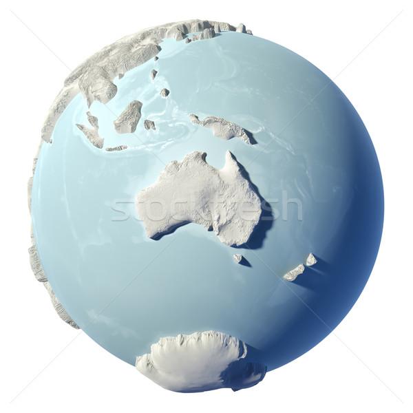 świecie 3D zimą ziemi odizolowany biały Zdjęcia stock © ThreeArt
