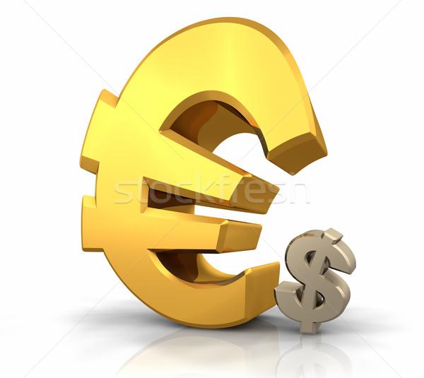 Euro uralom nagy arany felirat dől Stock fotó © ThreeArt