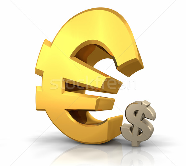 Euro overheersing groot goud teken Stockfoto © ThreeArt
