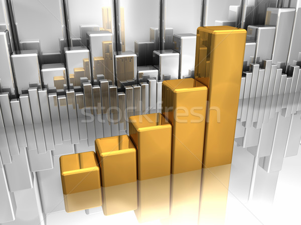 Gold And Silver Charts Stock photo © ThreeArt