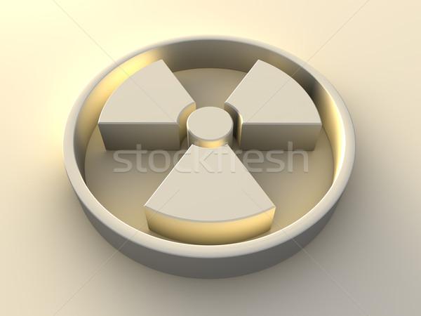 Radyoaktivite simge sarı 3d render imzalamak uyarı Stok fotoğraf © ThreeArt