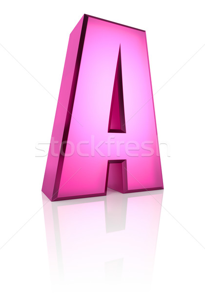 Roze brief geïsoleerd witte 3D Stockfoto © ThreeArt