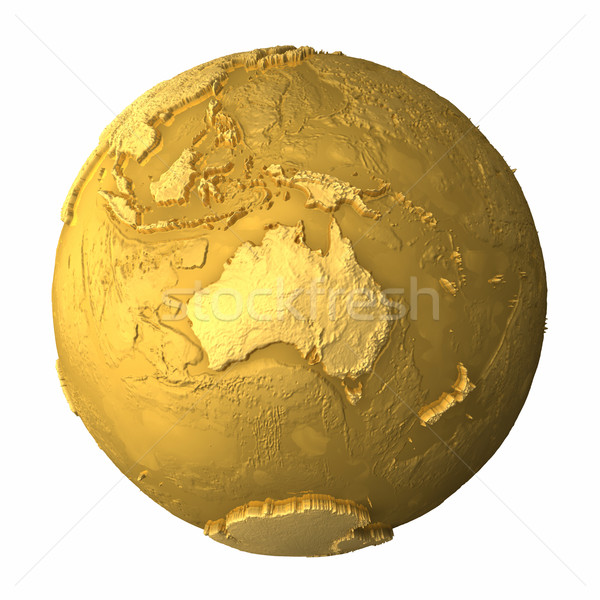 Or monde Australie métal terre réaliste Photo stock © ThreeArt